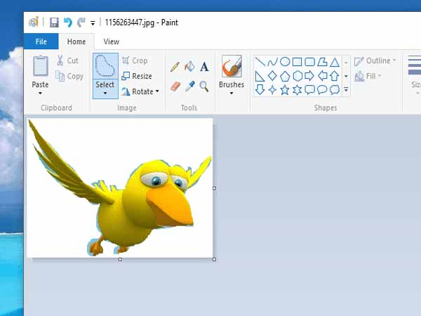 Cách cắt ảnh trên máy tính sử dụng phần mềm Paint