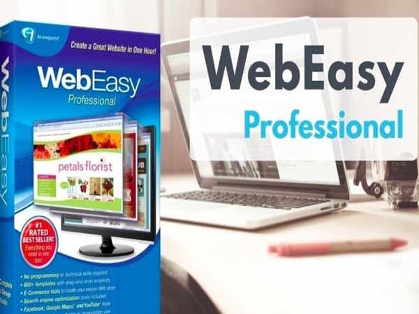Phần mềm thiết kế Website Web Easy Professional