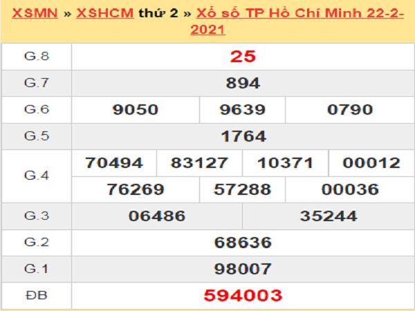 Soi cầu XSHCM 27/2/2021