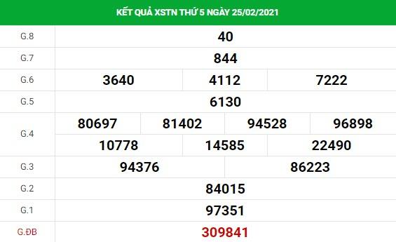 Soi cầu XS Tây Ninh chính xác thứ 4 ngày 03/03/2021