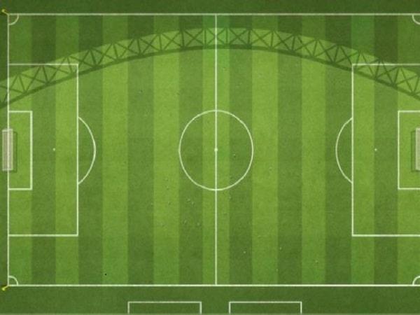Kích thước sân bóng đá 11 người trong thực tế là bao nhiêu?
